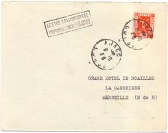 France Lettre Transportée Exceptionnellement Par Avion - Marcophilie (Lettres)