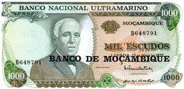Moçambique> Belhete  De 1000 Escudos 1972 Banco Nacional Ultramarino-Moçambique - Mozambique