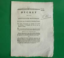 D-FR Révolution 1793 Interrogatoire Des Individus De La Famille Des Bourbons & Le Sequestre Des Biens - Documents Historiques
