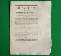 D-FR Révolution 1793 Indemnité Aux Membres Qui Ne Vivent Que De Leur Travail Signé Billaud-Varenne - Documents Historiques