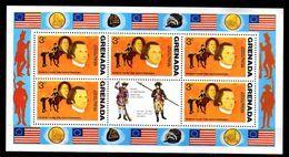 GRENADE  Feuillet  N°  594 * *   Bicentenaire De L Independance Des Usa Uniforme - Unabhängigkeit USA