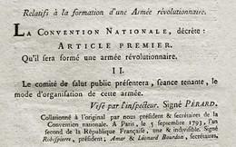 D-FR Révolution 1793 ROBESPIERRE Formation D'une Armée Révolutionnaire - Documents Historiques