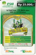 INDONESIA - Ekspresia Ramadhan, Esia Prepaid Card Rp 25000, Exp.date 31/12/09, Used - Indonesia