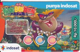 INDONESIA - Bon Bin Ben, Mentari By Indosat Promotion Prepaid Card Rp 10000, Exp.date 31/12/09, Used - Indonesia