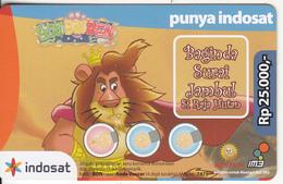 INDONESIA - Bon Bin Ben, Mentari By Indosat Promotion Prepaid Card Rp 25000, Exp.date 31/12/09, Used - Indonesia