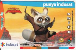 INDONESIA - Kung Fu Panda/Shifu, Mentari By Indosat Prepaid Card Rp 10000, Exp.date 31/12/09, Used - Indonesia