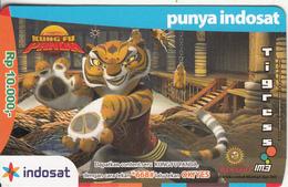 INDONESIA - Kung Fu Panda/Tigers, Mentari By Indosat Prepaid Card Rp 10000, Exp.date 31/12/09, Used - Indonesia