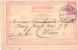 Turquie Entier De Constantinople Pour Wien Autriche 1911 - 1858-1921 Empire Ottoman