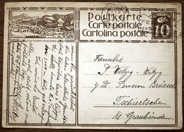 Schweiz Suisse 1930: LUFTKURORT MOGELSBERG Mit O ZÜRICH 7.VI.30 FERIEN IN DER SCHWEIZ Nach Tschiertschen (GR) - Interi Postali