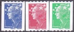 France Roulette Autoadhésif N°  219 - 220 - 221 ** Aux Modèles 4239 à 4241 - Marianne De Beaujard, Tvp - Rollen