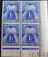 Lot R1631/2092 - 1943 - TIMBRES TAXE N°70 BLOC DE 4 TIMBRES NEUFS**/* CdF Daté - Portomarken
