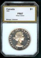 CANADA 1956 Dollar PCI67 GEM DEEP CAMEO Prooflike Blast White & Clean! - Canada