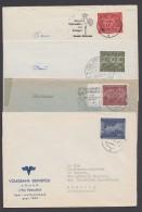 Mi-Nr. 332/5, Je Als EF Auf 4 Bedarfsbelegen - Briefe U. Dokumente