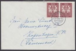Mi-Nr. 336, 2 Werte Als MeF Auf Bedarfsbrief Nach Dänemark - BRD