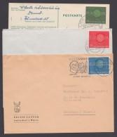 Mi-Nr. 337/9, Je Als EF Auf 3 Portoger. Belegen - Briefe U. Dokumente