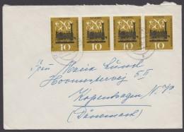 Mi-Nr. 345, MeF Mit 4 Werten Auf Bedarfsbrief Nach Dänemark - BRD