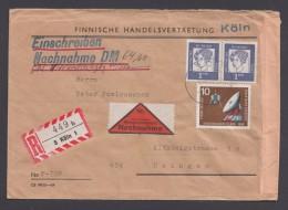 Mi-Nr. 361 U.a., Waag. Paare Moit Zusatzfr. Auf R-NN-Brief - Briefe U. Dokumente