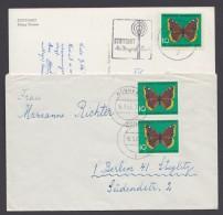 Mi-Nr. 377, EF Auf AK Und MeF Mit 2 Werten Auf Brief Nach Berlin, Bedarf - Briefe U. Dokumente