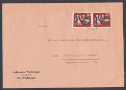 Mi-Nr. 387, MeF Mit 2 Werten Auf Bedarfsbrief - BRD