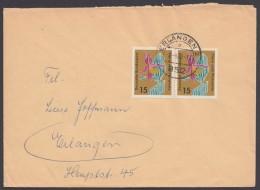 """Mi-Nr. 393, Waag. Paare Als MeF Auf Ortsbrief, """"Erlangen"""" - BRD"""