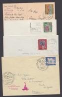 Mi-Nr. 392/5, Je Als EF Auf Karte Bzw. Brief - Briefe U. Dokumente
