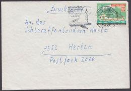 """Farbige Spendenmarke """"DLRG"""" Als Frankatur Auf Drucksache """"Gevelsberg"""", 17.11.69 - BRD"""