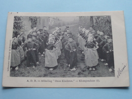 "A.D.B. - Afdeeling "" ONZE KINDEREN "" - KLOMPENDANS (2) Anno 1907 > Malines ( G. Hermans / Zie Foto Aub ) ! - Syndicats"
