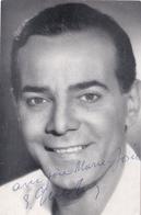 CPSM Signature Réelle Autographe Real Signed Georges GUETARY Chanteur Lyrique Ténor (2 Scans) - Autographes