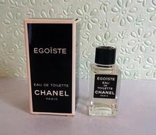 """Miniature """"ÉGOÏSTE"""" De CHANEL    EDT 4 Ml Dans Sa Boite (M076) - Miniatures Men's Fragrances (in Box)"""