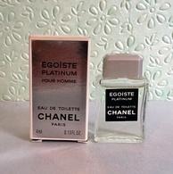 """Miniature """"ÉGOÏSTE PLATINIUM Pour Homme """" De CHANEL    EDT 4 Ml Dans Sa Boite (M076) - Miniatures Men's Fragrances (in Box)"""