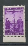 1949 Belgique Timbre Ex Bloc 28.** Christ En Croix. Calvaire   Rarement Offert - Christianity