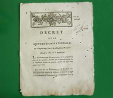 D-FR Révolution 1793 Décret De La Convention Nationale Relatif à L'ére De La République - Documents Historiques