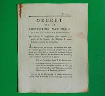 D-FR Révolution 1793 Confiscation Maisons Et Autres Edifices Portant Des Armoiries - Documents Historiques