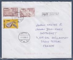 = Enveloppe Galati (Roumanie) à Pessac (France) 15.12.03 Avec 3 Timbres - Poststempel (Marcophilie)