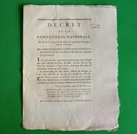 D-FR Révolution 1793 Chevaux De Luxe, De Selle, Ou De Trait Non Employés à L'agriculture - Documents Historiques