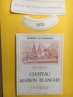 8502 - Dorin Château Maison Blanche 1978  Yvorne Suisse - Etiquettes