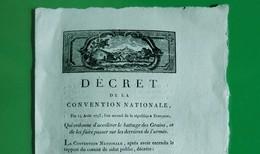D-FR Révolution 1793 Accélérer Le Battage Des Grains, Et De Les Faire Passer Sur Les Derrières De L'armée - Documents Historiques