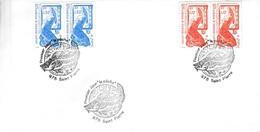 SAINT PIERRE Et MIQUELON - 1987-88 - 4 Lettres 1er Jour Yv 480/1 483 486 Et 490/1 - Lettres & Documents