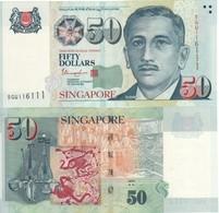 Singapore  New 50 Dollars  (2 Stars Below Arts)   Pnew  (P49i)  UNC - Singapour