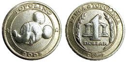 00774 GETTONE JETON TOKEN DISNEY ADVERTISING BANCA DI TOPOLINIA 1 DOLLARO TOPOLINO - Unclassified