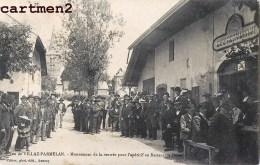 RARE CPA : VILLAZ-PARMELAN MOUVEMENT DE LA RENTREE POUR L'APERITIF AU RESTAURANT DURET 74 HAUTE-SAVOIE - Sin Clasificación