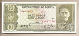 Bolivia - Banconota Non Circolata FdS Da 10 Pesos P-154a.17 - 1962 - Bolivie