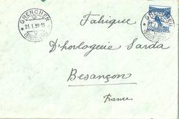 Ausland Brief  Grenchen - Besançon France           1939 - Briefe U. Dokumente
