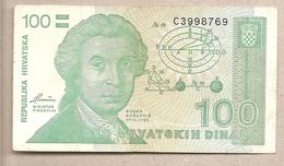Croazia - Banconota Circolata Da 100 Dinari P-20a - 1991 - Croazia