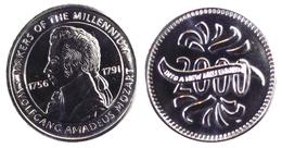00213 GETTONE JETON TOKEN ADVERTISING MAKERS OF THE MILLENIUM W. AMADEUS MOZART - Unclassified