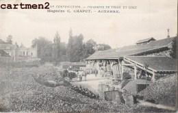 AUXERRE MAGASINS C. CHAPUT CHARBONS DE TERRE ET COKE USINE INDUSTRIE 89 YONNE - Auxerre