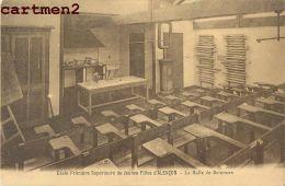 8 CPA : ALENCON ECOLE PRIMAIRE DE JEUNES FILLES SALLE DE SCIENCES ECOLE MENAGERE BIBLIOTHEQUE ENSEIGNEMENT 61 ORNE - Alencon