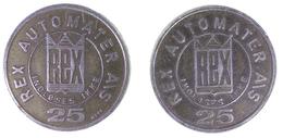 01168 GETTONE JETON TOKEN DENMARK REX AUTOMATER 25 INDLOSES IKKE - Tokens & Medals