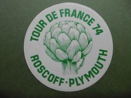 TOUR DE FRANCE ROSCOFF PLYMOUTH - Autocollant Légume ARTICHAUT De BRETAGNE - Pegatinas