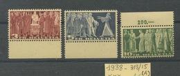 Suisse 313A/315A.  Cote  53,- Euros. Sans Charnière - Ungebraucht